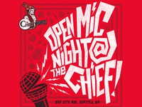 Open Mic Flyer --- The Chieftain---Seattle, WA