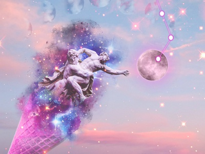 CoverArt _ Digital Collage sculpture illustration sculpture photomanipulation photomontage poster a day cyberwave vaporwave stars space glitter universe digital illustration digitalart surreal surrealism banner ad banner design poster art cover design cover art