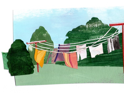 clothesline design paper art illustrator illustrations illustration art cutout collage maker collage collageart illustration