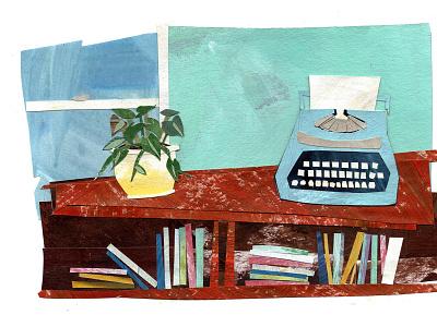 typewriter paper art illustrator collage cutpaper illustrations illustration art collage maker cutout collageart illustration