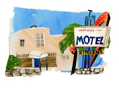 MOTEL kitchens design papercut papercraft illustrations illustration art illustrator paper art cutpaper collage maker cutout collageart collage painting illustration gouache