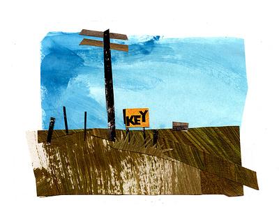Key papercut papercraft paper art illustrator illustrations illustration art design cutpaper collage maker cutout collageart collage drawing southern art painting illustration gouache