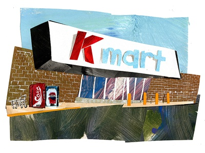 kmart debut cutpaper collage maker cutout collageart collage drawing southern art illustration painting gouache