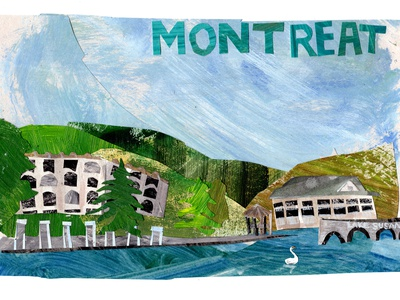 montreat illustrations illustration art collageart collage maker collage cutout southern art drawing painting illustration