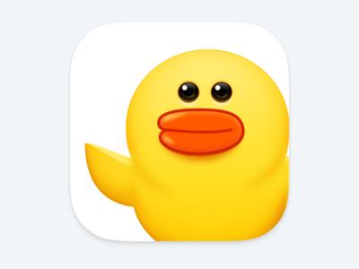 Line Friends hi cute duck line icon