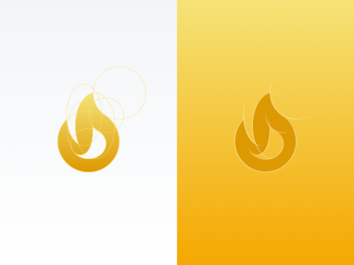 Fire Icon gold booleans clean icon