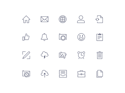 Sharp Icons Preview