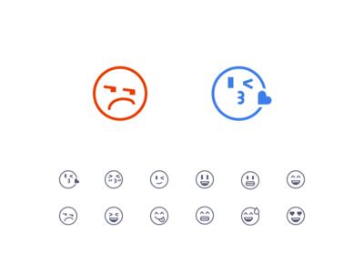 Sharp Emoji Icons Preview wink like kiss angry icon line sharp emoji