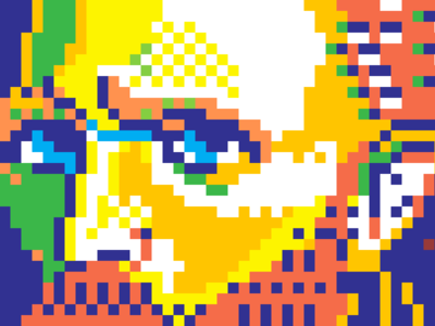 Van Gogh pixelart pixel