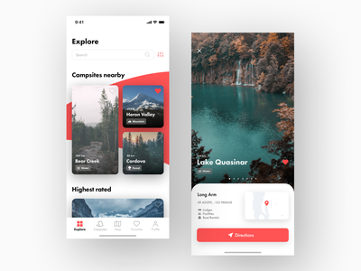 Campsite Finder App & Debut uiuxdesign user interface experience ux design app  design uiuxdesigner user interface designer clean minimal flat appdesigner appdesign app uiux uidesigner ui design uidesign user interface design user interface ux ui
