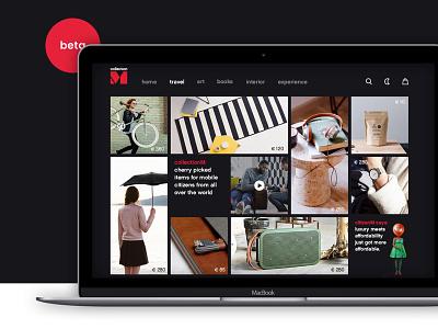 citizenM webshop webshop ] simple ui website webdesign homepage home landingpage design amsterdam interaction design ux ui
