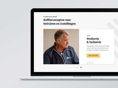 Concept for Van Duijnen - divisions visual design interaction desgin case study full project digital design