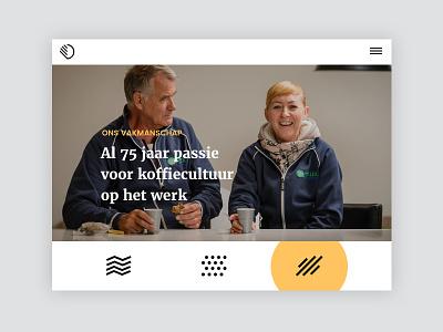 Tablet layout for Van Duijnen visual design interaction desgin case study full project digital design