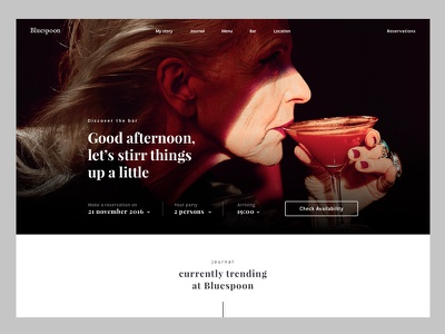 Bluespoon 1/3 webdesign interaction design digital design ui branding