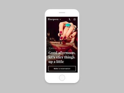 Bluespoon 2/3 webdesign interaction design digital design ui branding