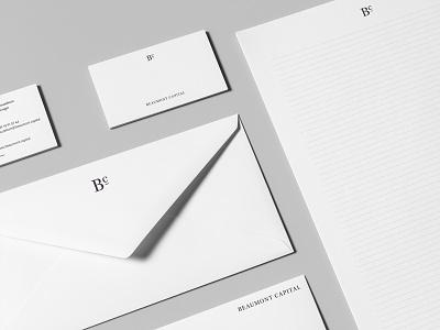 Beaumont Capital 1/4 minimal branding logo design minimal logo digital identity branding identity design