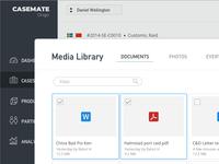 CaseMate Media Library UI