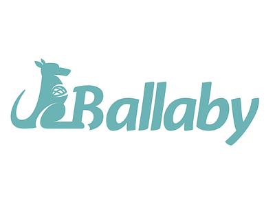 Ballaby Logo wallaby kangaroo logo