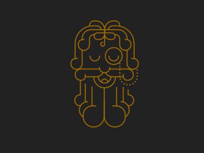 Gramps beard logo illustration
