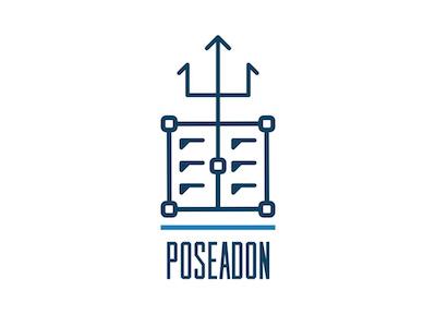 Shipping logo logo poseidon trident container shipping