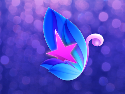 Butterfly logo illustration butterfly