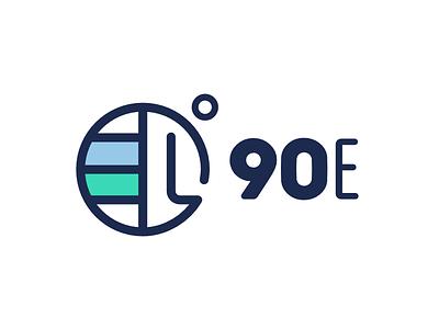 90East logo earth globe logo