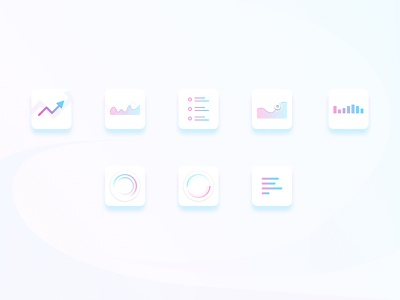 Charting Icons trading blue violet minimal white icons white icons minimal charting chart icons