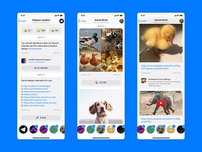 Telegram Channels Redesign interaction interface figma app messenger app mobile app design ux ui
