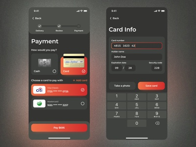 Daily UI #002 | Credit Card Checkout mobile app design ux ui checkout dark interface figma daily ui challenge dailyui