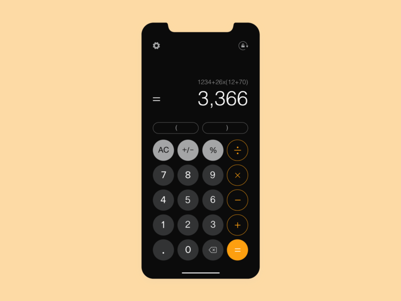 Daily UI 004 ::  (Calculator) dark ui daily ui graphic design web icon graphic wireframes research prototype ios app mobile app design mobile ui app design calculator ui ux design ux ui  ux ui design ui design