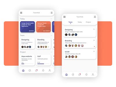 TeamHub application product uxdesign ui branding design