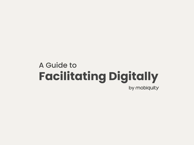 A Guide to Facilitating Digitally 📓 tip tools freebie download free amsterdam tips looping remotework idenity brand guide design geometric vector illustration animation 2d