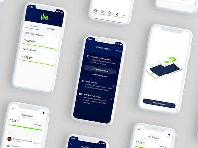 App design for ila bank bank app icon ui ux design app bankingapp animation iphone cards ui layout interaction showcase fintech design branding amsterdam