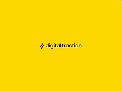 Digital Traction web amsterdam typography vector branding animation masking logo design transition motion logotype