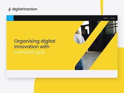 Digital Traction Landing Page amsterdam flat typography logo 2d icons innovation mvp hand drawn transitions branding illustrations animation motion web design website
