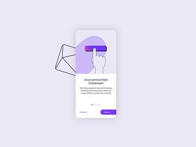 Identity App - Datakeeper amsterdam icons safe security data design illustration app motion branding animation ui