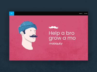 Movember  is here! vector illustration amsterdam awareness scrolling responsive design 2d moustache beard animation webdesign