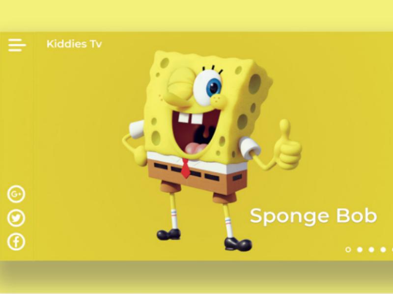 Spongebob kids tv children kids ui graphics website cartoons spongebob