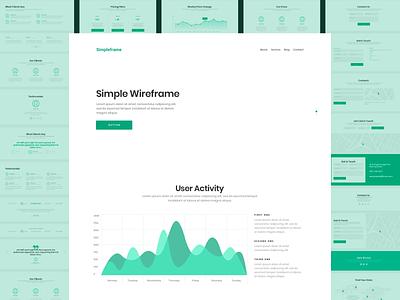 Simpleframe sketch wireframe 2020 trend website ui