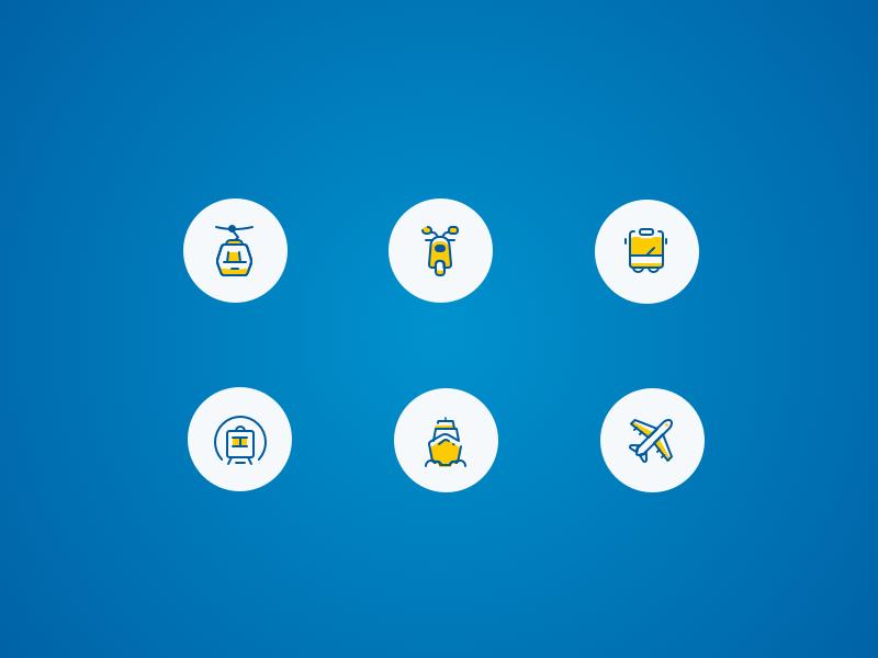 Icons Transport design ui icon