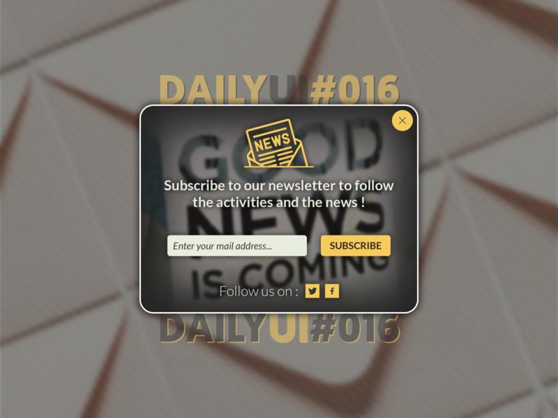 Daily UI Challenge #016 - Pop-Up