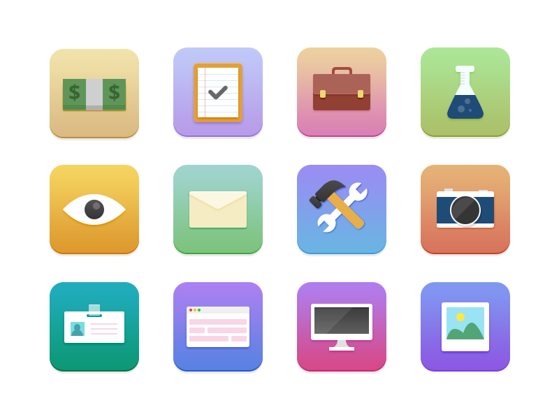 Surfing Icons free icon flat freebie download psd ios7 retina