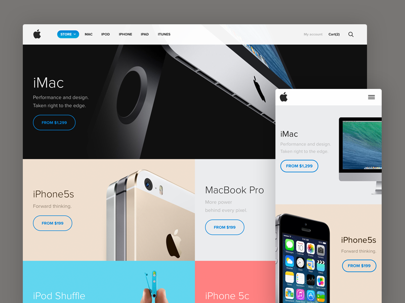 Apple Store redesign LIVE apple redesign store ui flat minimal ecommerce concept iphone ipad imac