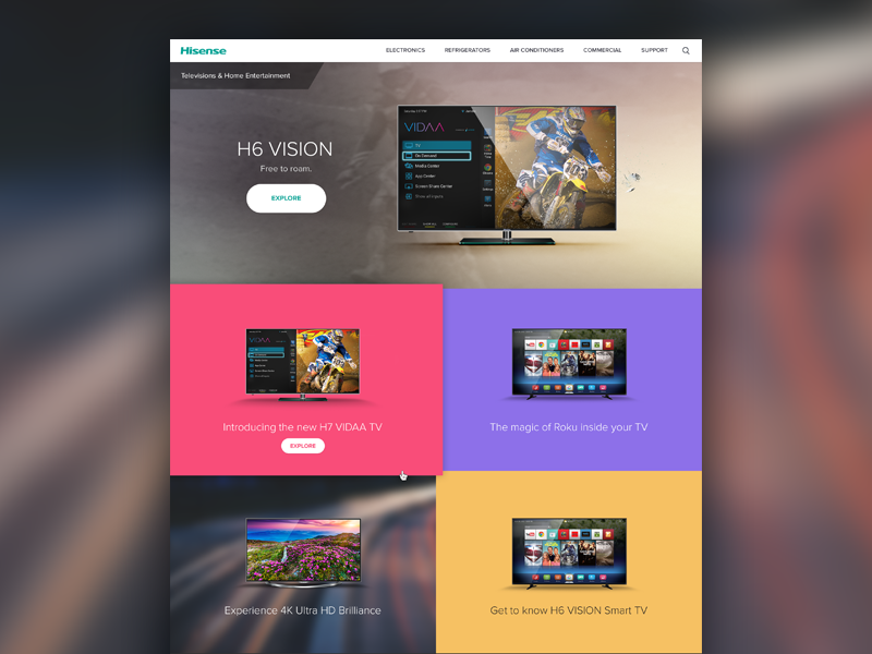 TV Category Page gallery minimal flat estore ecommerce tv