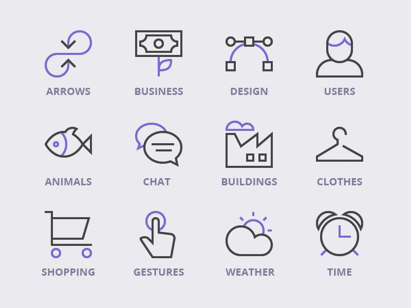 Nucleo Categories icons categories outline icon user business