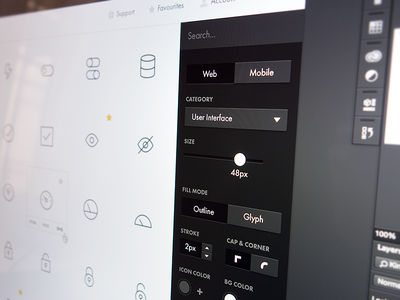 Nucleo App Sneak Peek icons icon app eye sidebar filter