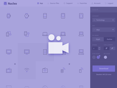 Nucleo Quick Tour nucleo icon icons svg video