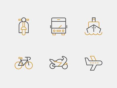 Nucleo - Transportation Icons