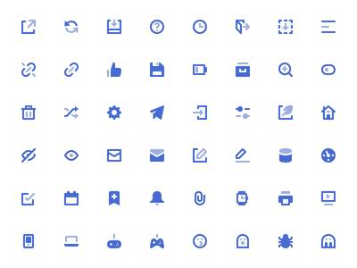 Mini Icons glyph set pack nucleo ui icons icon mini 16px