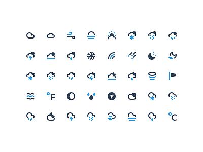 Nucleo - Weather Mini cloud rain snow moon sun weather icons icon nucleo